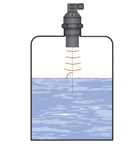 Ultrasonic water level measurement
