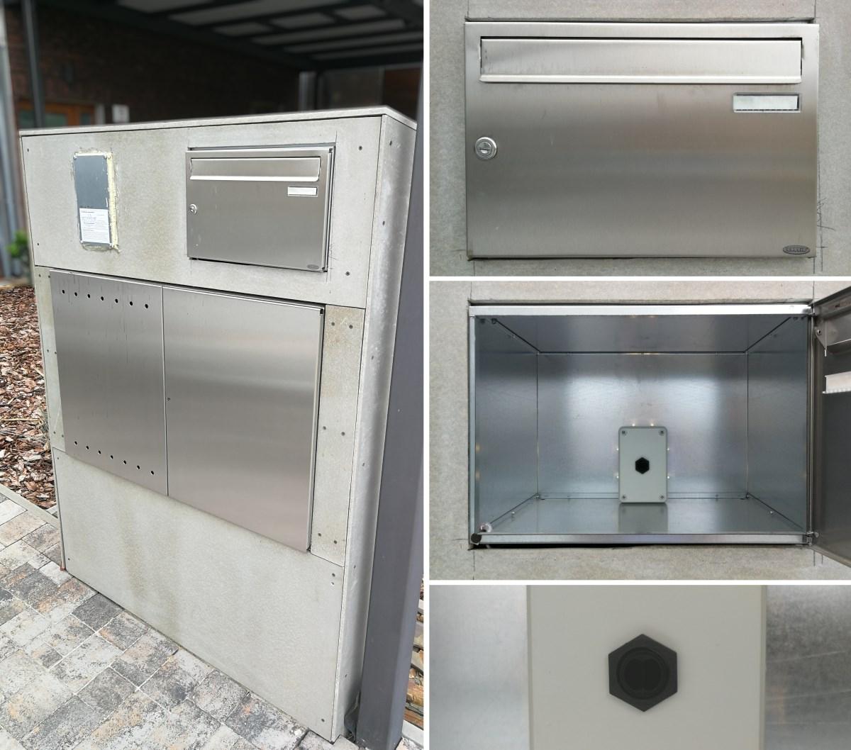 Work in progress - mailbox installation