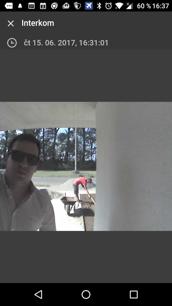 loxone intercom screenshot