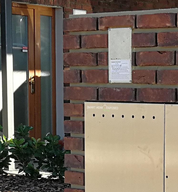 Loxone intercom in-wall box