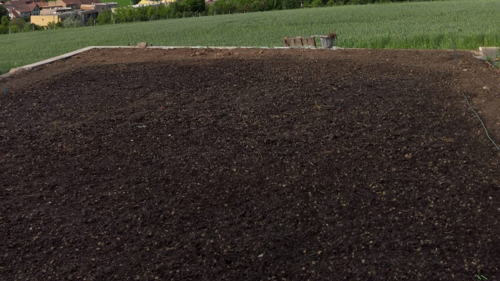 Soil preparation for a new lawn